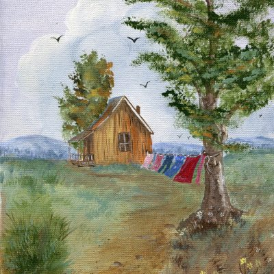 spring day farmhouse country laundry beautiful